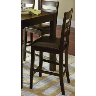 AMINI Dark Brown Counter Height Chair with Ladderback (Set of 2)