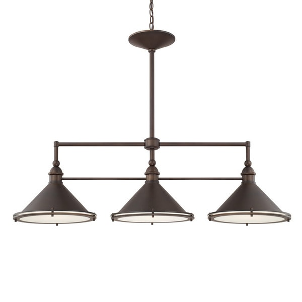 Shop Capital Lighting Langley Collection 3-light Burnished