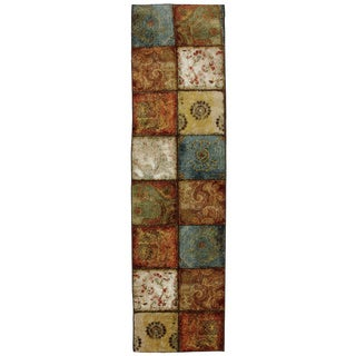 Laurel Creek Thelma Artifact Panel Transitional Nylon Rug - 2' x 5'