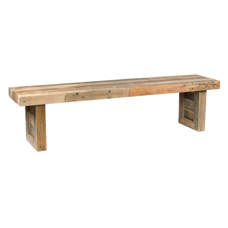 The Gray Barn Buffalo Horn Reclaimed Wood Dining Bench