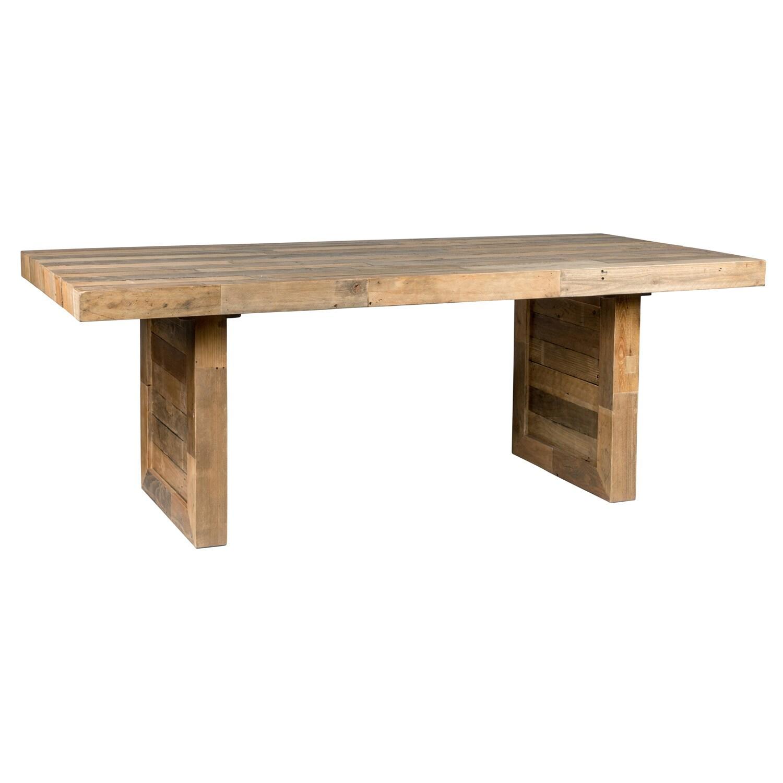 The Gray Barn Buffalo Horn Reclaimed Wood Dining Table
