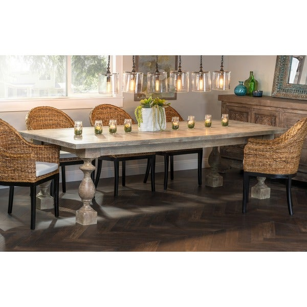 Kosas home martha distressed brown solid pine 108 inch for 108 inch dining table