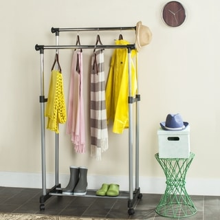 Safavieh Happimess Alfred Heavy Duty Commercial Double Rod Clothing Rack