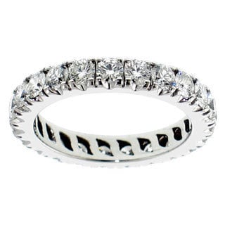 Platinum 2 1/3ct TDW Round Diamond Eternity Band