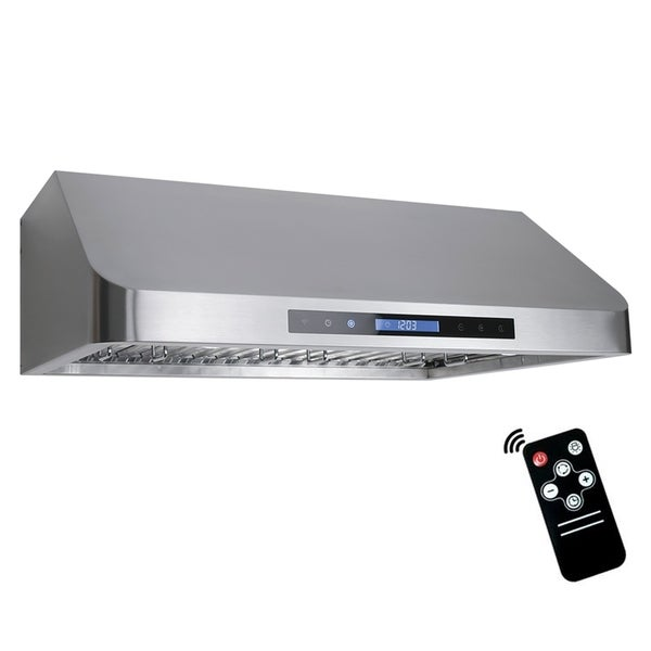shop cosmo 30 inch range hood 900 cfm ducted under cabinet stainless steel silver ships to. Black Bedroom Furniture Sets. Home Design Ideas