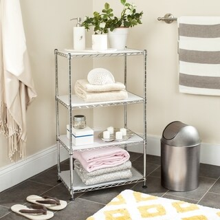 Safavieh Storage Collection Jules Adjustable Chrome Wire Mini Rack