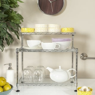 Safavieh Happimess Marcel Heavy Duty Commercial Chrome Wire Mini Rack