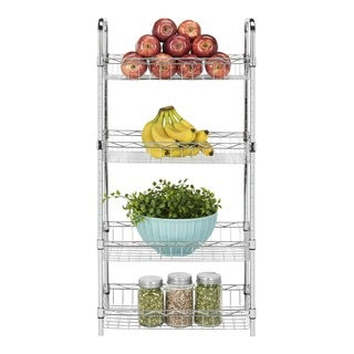 Safavieh Happimess Pierre Heavy Duty Commercial Adjustable Chrome Wire Mini Trolley