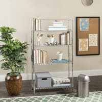 Safavieh Storage Collection Fernand Chrome Wire Book Rack