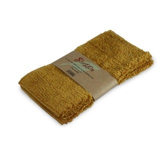 Shaggie 10x10-inch Mustard Chenille Dish/ Washcloth (Set of 2)