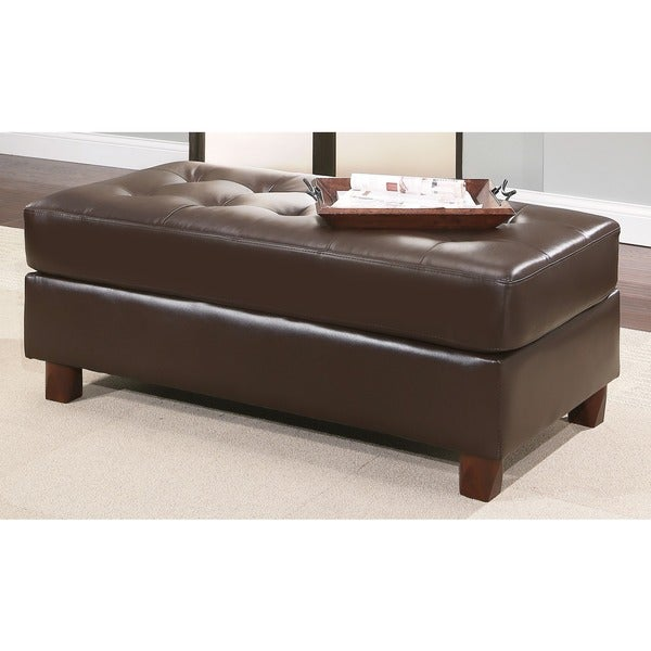 Attractive Abbyson Montgomery Leather Reversible Sectional And Ottoman   Free Shipping  Today   Overstock.com   18682151