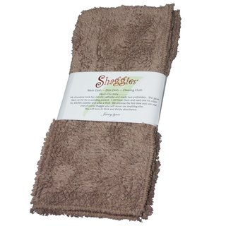 Shaggie 10x10-inch Tan Chenille Dish/ Washcloth (Set of 2)