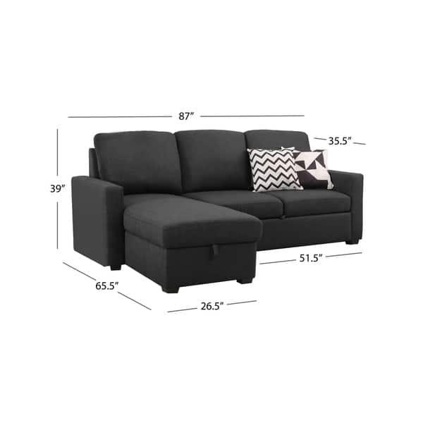 Magnificent Shop Abbyson Newport Upholstered Sleeper Sectional With Inzonedesignstudio Interior Chair Design Inzonedesignstudiocom
