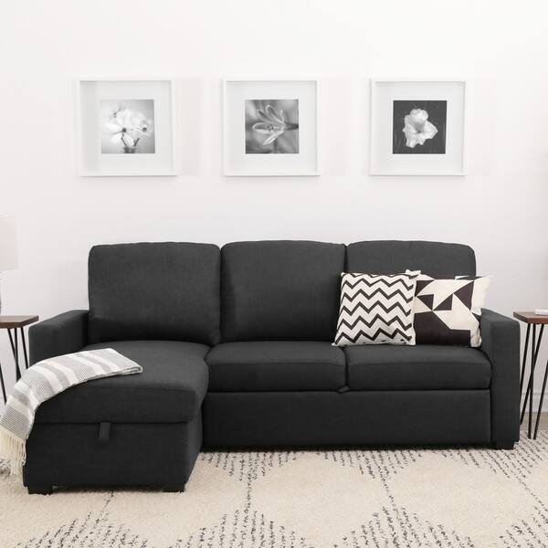 Fantastic Shop Abbyson Newport Upholstered Sleeper Sectional With Alphanode Cool Chair Designs And Ideas Alphanodeonline