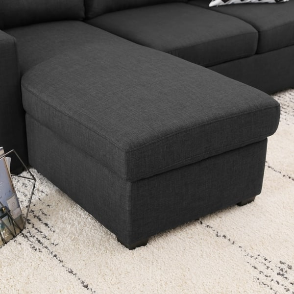 Surprising Shop Abbyson Newport Upholstered Sleeper Sectional With Alphanode Cool Chair Designs And Ideas Alphanodeonline