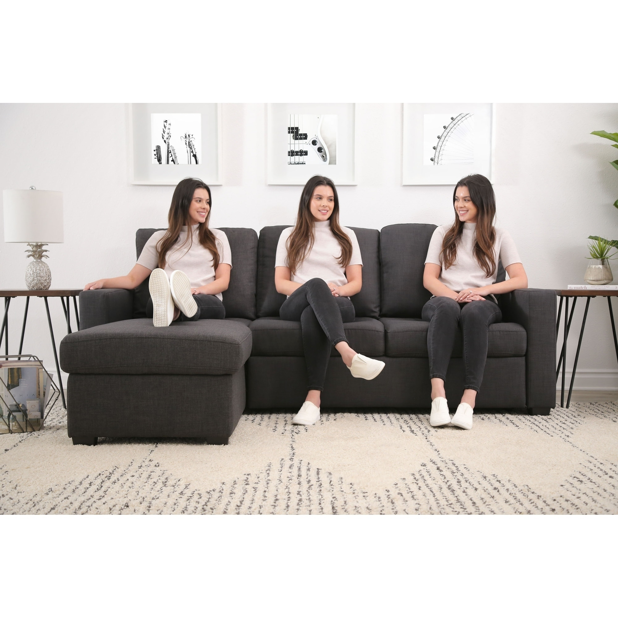 Terrific Abbyson Newport Upholstered Sleeper Sectional With Storage Alphanode Cool Chair Designs And Ideas Alphanodeonline