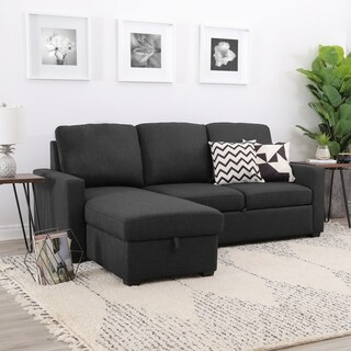 Abbyson Newport Upholstered Modular Storage Sofa Sectional