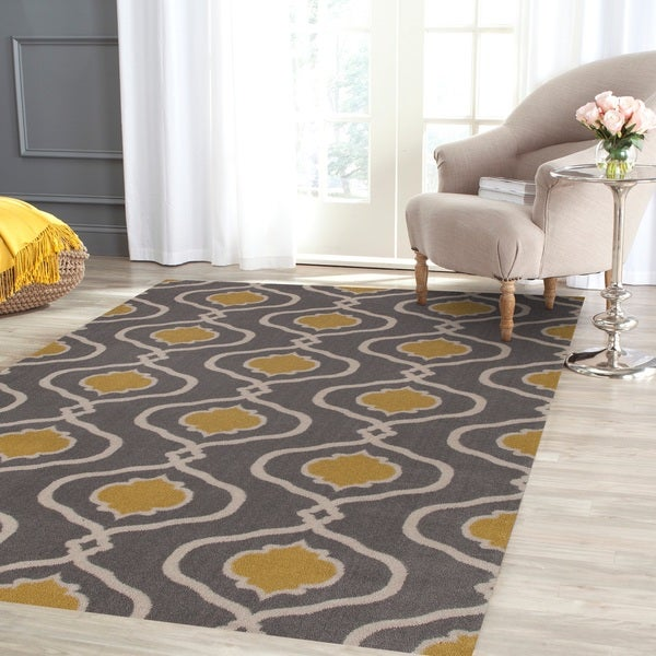 Moroccan Trellis Modern Grey/Yellow Area Rug (5'3 X 7'3