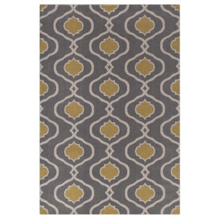Moroccan Modern Trellis Grey/Yellow Area Rug (2' x 3')