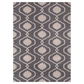 Moroccan Trellis Modern Grey Area Rug (5'3 x 7'3)