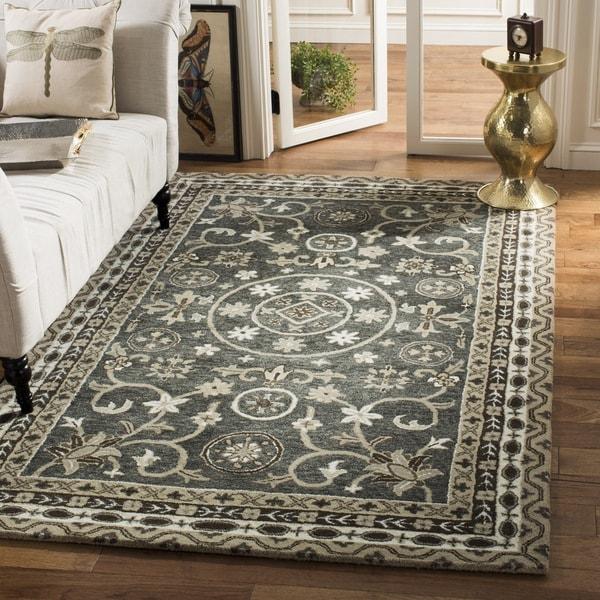 Safavieh Handmade Bella Grey/ Taupe Wool Rug - 8' x 10'