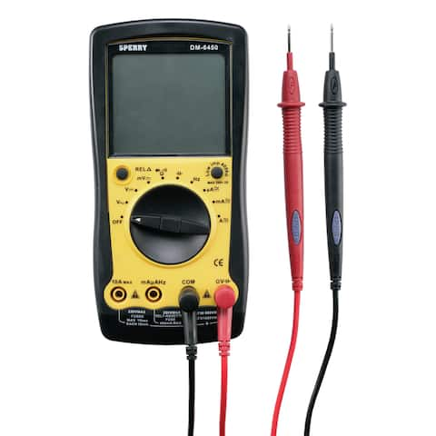 Sperry LCD Digital Multimeter 4/40/400/750 VAC, 400mV/4/40/400/1000 VDC Black/Yellow