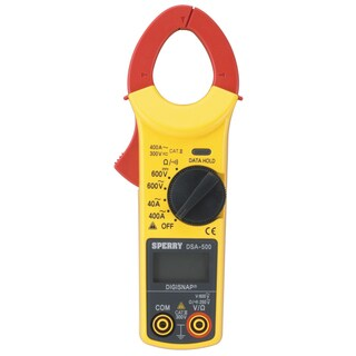 Sperry Snap-Around LCD Digital Clamp Meter 300V - 600V Yellow