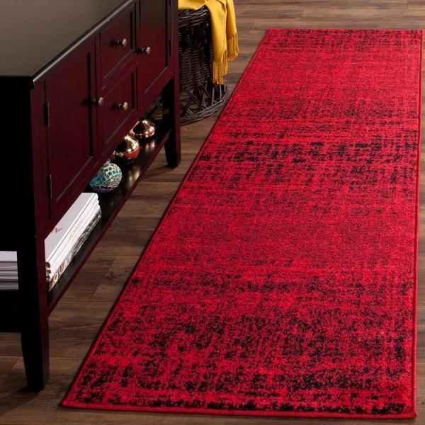 Safavieh Adirondack Modern Abstract Red/ Black Rug - 2'6 x 6'