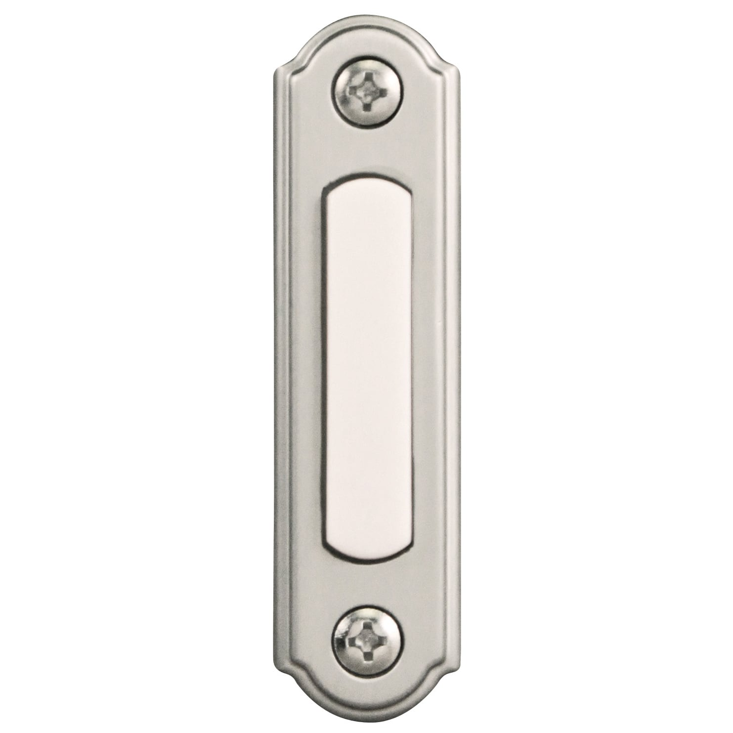 HeathCo Heath Zenith Satin Nickel Wired Pushbutton Doorbe...