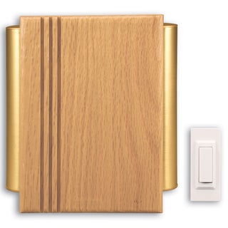 Heathco SL-6182-C Oak Wireless Chime Kit