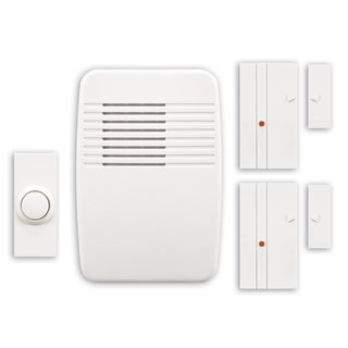 Heathco SL-7052 White Entry Alert With 2 Magnet Sensors