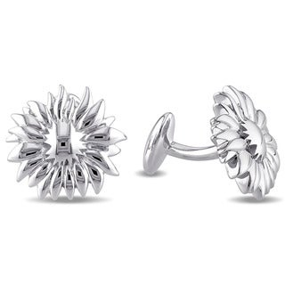 V1969 ITALIA Sunflower Cufflinks in Sterling Silver