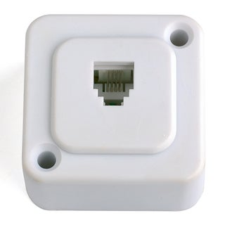 Black Point Products Inc BT-008-WHITE 4 Connector White Surface Wall Jack