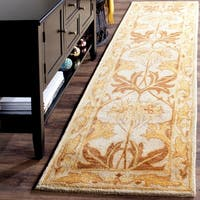 Safavieh Handmade Antiquity Beige/ Gold Wool Rug - 2' 3 x 12'