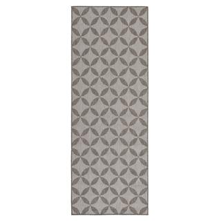 Berrnour Home Summer Collection Star Design Jute Backing Indoor/Outdoor Lattice Runner Rug (2'7 x 7'0)