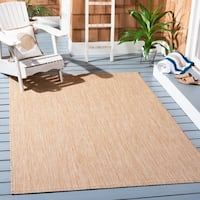 Safavieh Indoor/ Outdoor Courtyard Black/ Beige Rug - 2' 3 x 8'