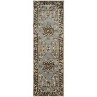 Safavieh Handmade Empire Dani Traditional Oriental Wool Rug (26 x 10 Runner - Blue)
