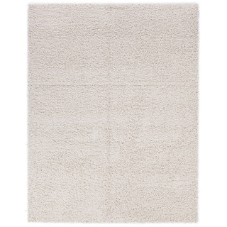 Berrnour Home Trellis Solid-colored Plush Shag Area Rug (6'7 x 9'3)
