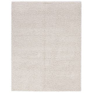 Berrnour Home Trellis Solid Colored Plush Area Rug 6 7 X 9