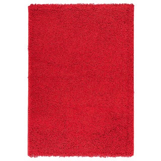 Berrnour Home Polypropylene Solid Plush Shag Area Rug - 5' x 7'