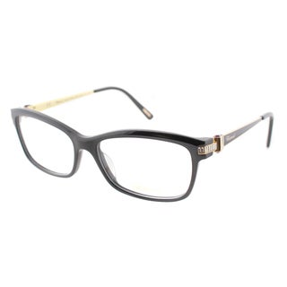 Chopard VCH 139S 0700 Black And Gold 26KT With Stones Plastic Rectangle Eyeglasses