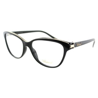 Chopard VCH 141S 0700 Black And Gold 23KT With Stones Plastic Cat Eye Eyeglasses