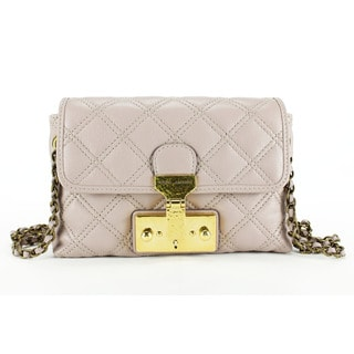Marc Jacobs Women's Grey Rose Leather Baguette Handbag