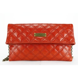 Marc Jacobs Women's Red Leather Clutch Handbag