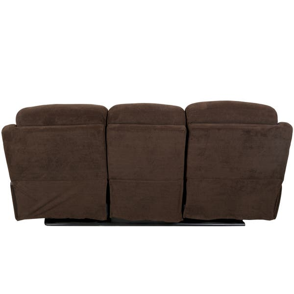 Chocolate Microfiber And Faux Leather