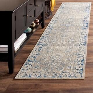 Safavieh Patina Taupe/ Blue Rug (2'2 x 8')