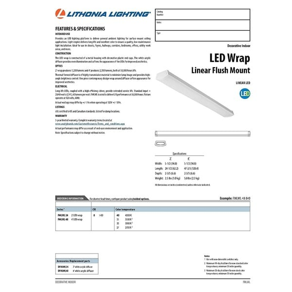 Lithonia Lighting FMLWL 48 840 LED 4 ft. White Wrap Light 6ad4deac 310d 439e 8cd5 27f170bb4944_600 lithonia lighting fmlwl 48 840 led 4 ft white wrap light free  at readyjetset.co