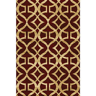 Home Dynamix Royalty Collection Traditional Red Area Rug  (7'8X10'4)