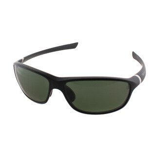 TAG Heuer TAG 27 6021 301 Matte Black And Silver Plastic Green Polarized Lens Sport Sunglasses
