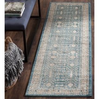 Safavieh Sofia Vintage Blue/ Beige Distressed Rug (2' 2 x 8')